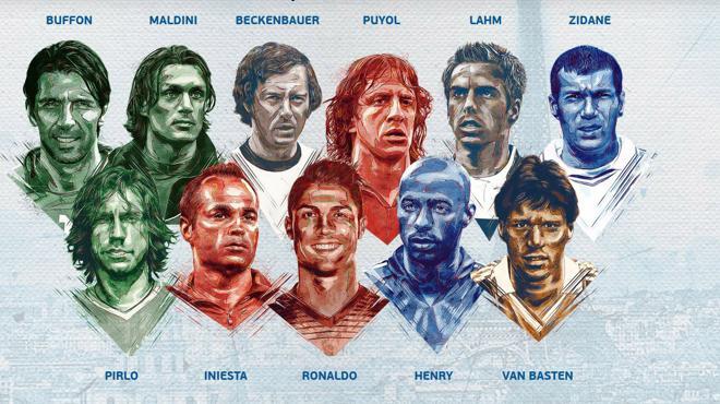Puyol e Iniesta, únicos españoles en el once histórico de la Eurocopa