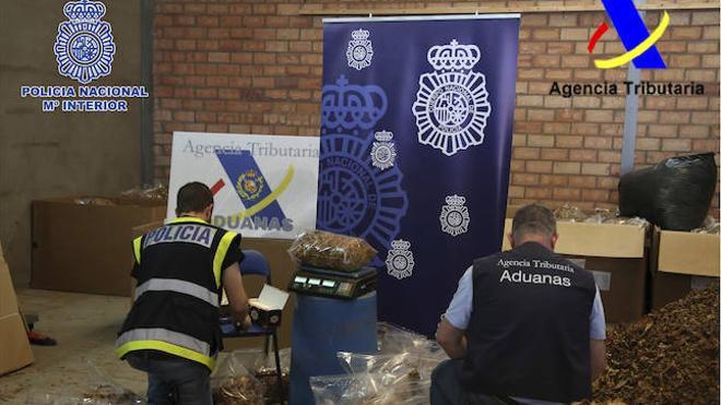 Intervenidas 43 toneladas de tabaco de contrabando que se vendía por internet