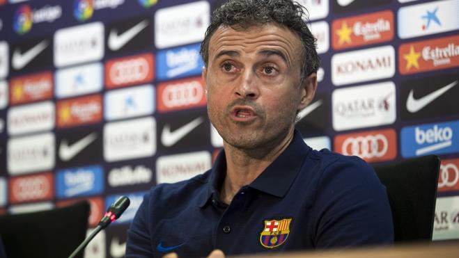 Luis Enrique: «Nuestro objetivo es volver a ganar la Liga por tercer año consecutivo»