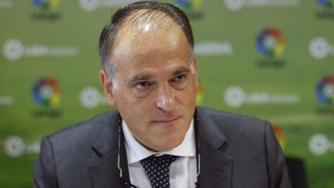 Tebas, presidente de LaLiga hasta 2020