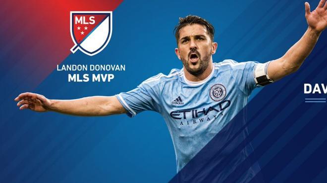 David Villa, elegido mejor futbolista de la MLS