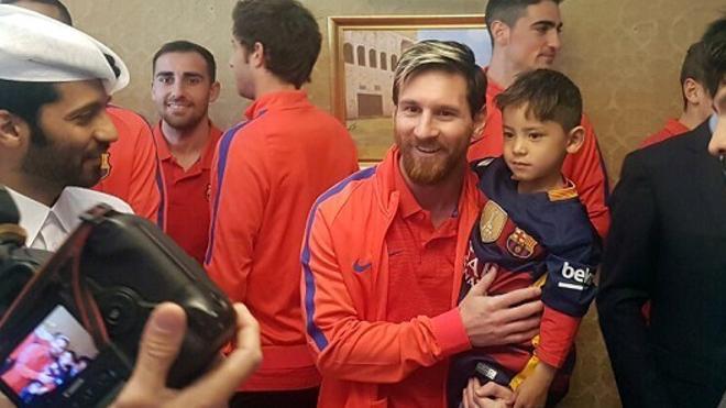 Murtaza conoció a Messi y ya no le quiso soltar