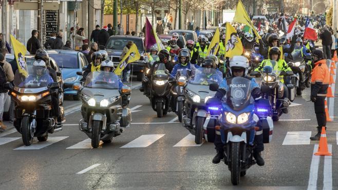 El escuadrón de miles de moteros 'Pingüinos' toma Valladolid