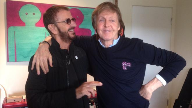 Paul McCartney y Ringo Starr, juntos tras siete años para una sesión de estudio