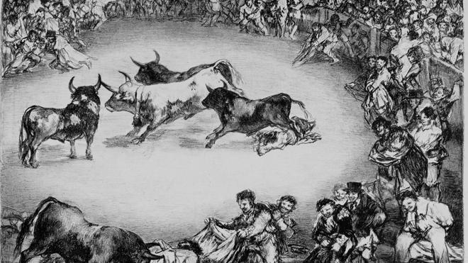 Subastarán en Londres una de las series de 'La Tauromaquia' de Goya
