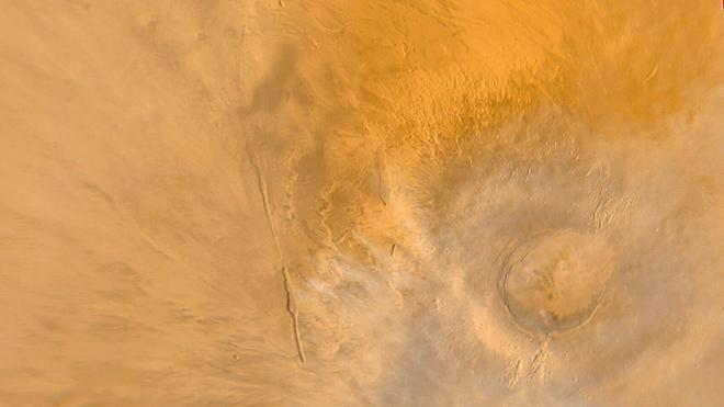 Marte tenía activo un volcán mientras en la Tierra aún había dinosaurios
