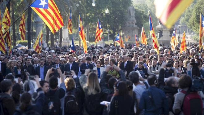 El independentismo impulsa una cuenta solidaria para los condenados por el proceso