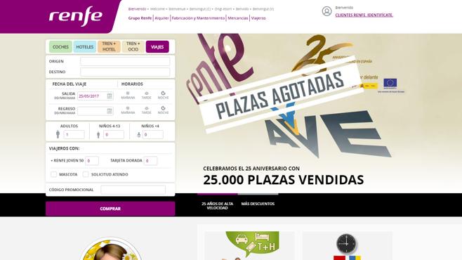 Renfe colapsa su web y agota en dos horas la segunda tanda de billetes de AVE a 25 euros