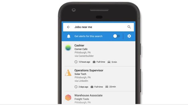 Google encuentra trabajos cercanos con una nueva herramienta
