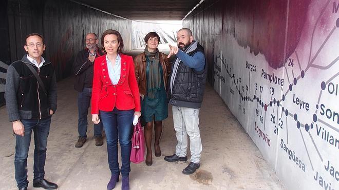 El grafiti que lleva a Santiago
