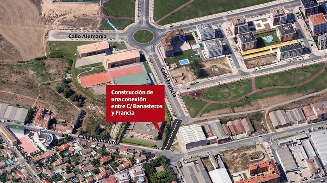 Valdegastea se conectará con Yagüe a través de la prolongación de la calle Francia