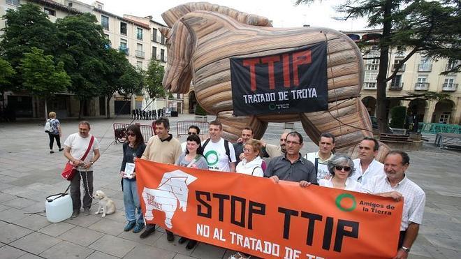 Un caballo contra el TTIP