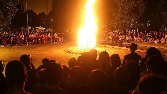 Cuatro hogueras en Logroño para la noche de San Juan