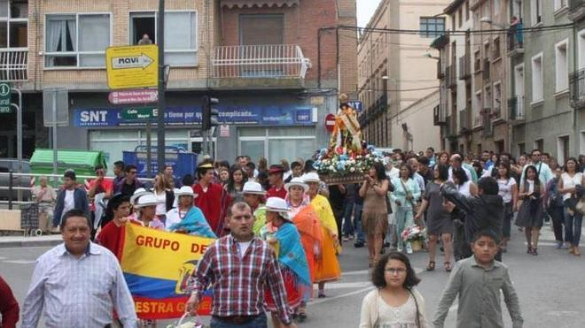 La comunidad ecuatoriana de Alfaro celebra la Virgen del Cisne
