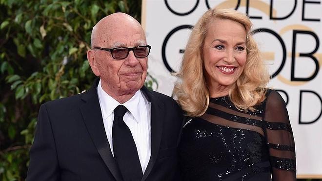 Rupert Murdoch y JerryHall se casan