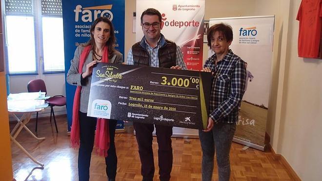 La San Silvestre de Logroño consiguió recaudar 3.000 euros para FARO