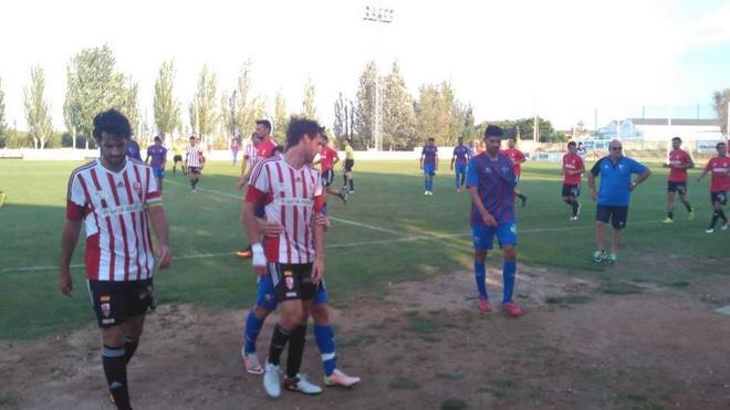 La UD Logroñés cae ante el Huesca en Pradejón