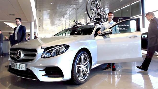 Auto Oja firma un acuerdo de colaboración con el ciclista Carlos Coloma