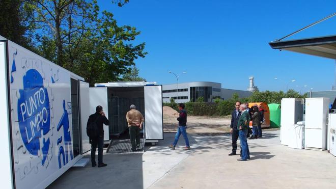 Logroño registra un récord en la recogida de residuos de los puntos limpios